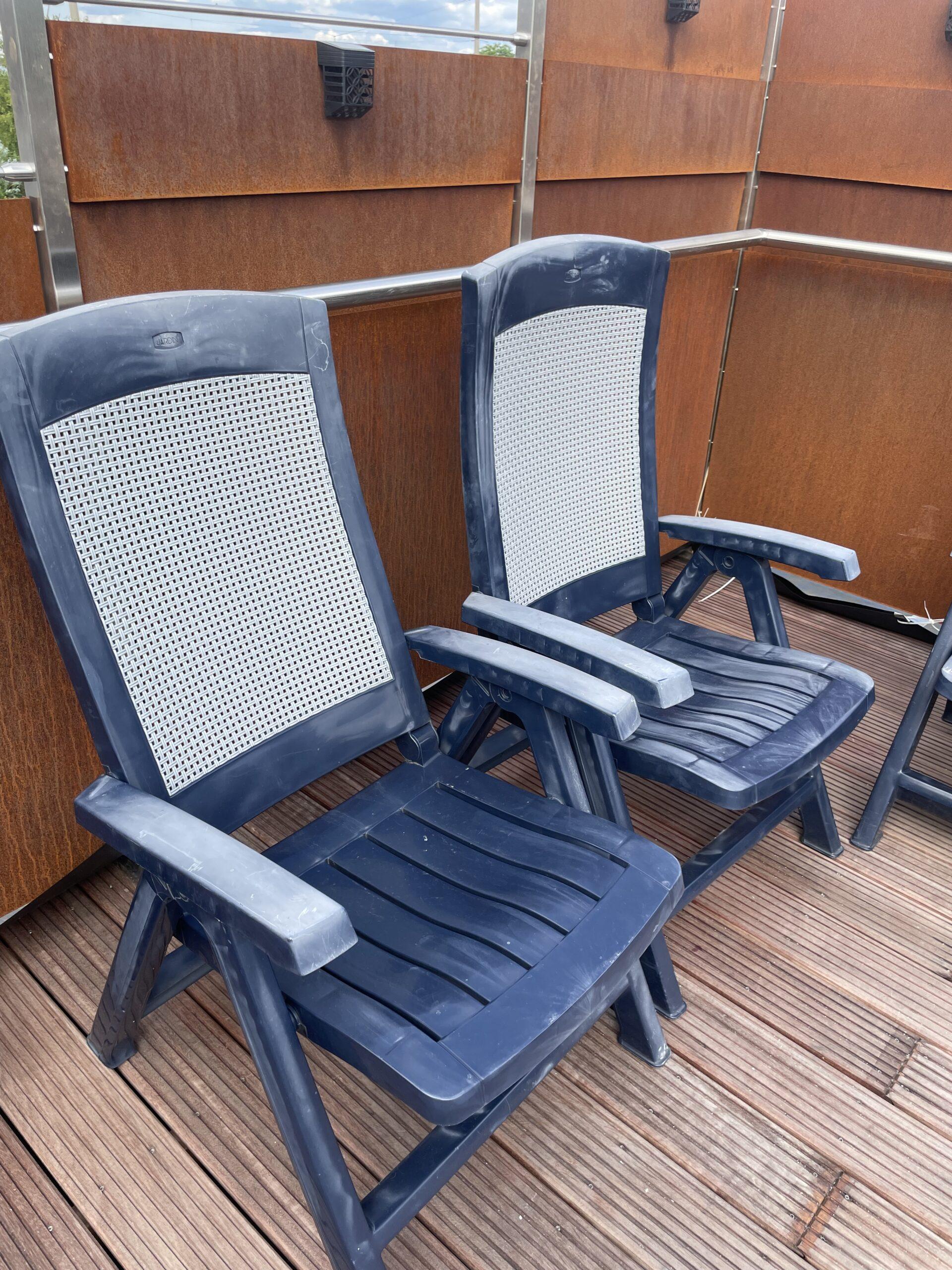4 Gartenstühle Klappstühle
