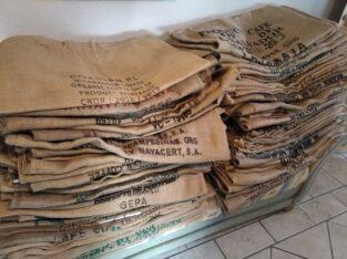 Pflanzsäcke, Kaffeesäcke, Jutesäcke, Jute, kein Plastik,