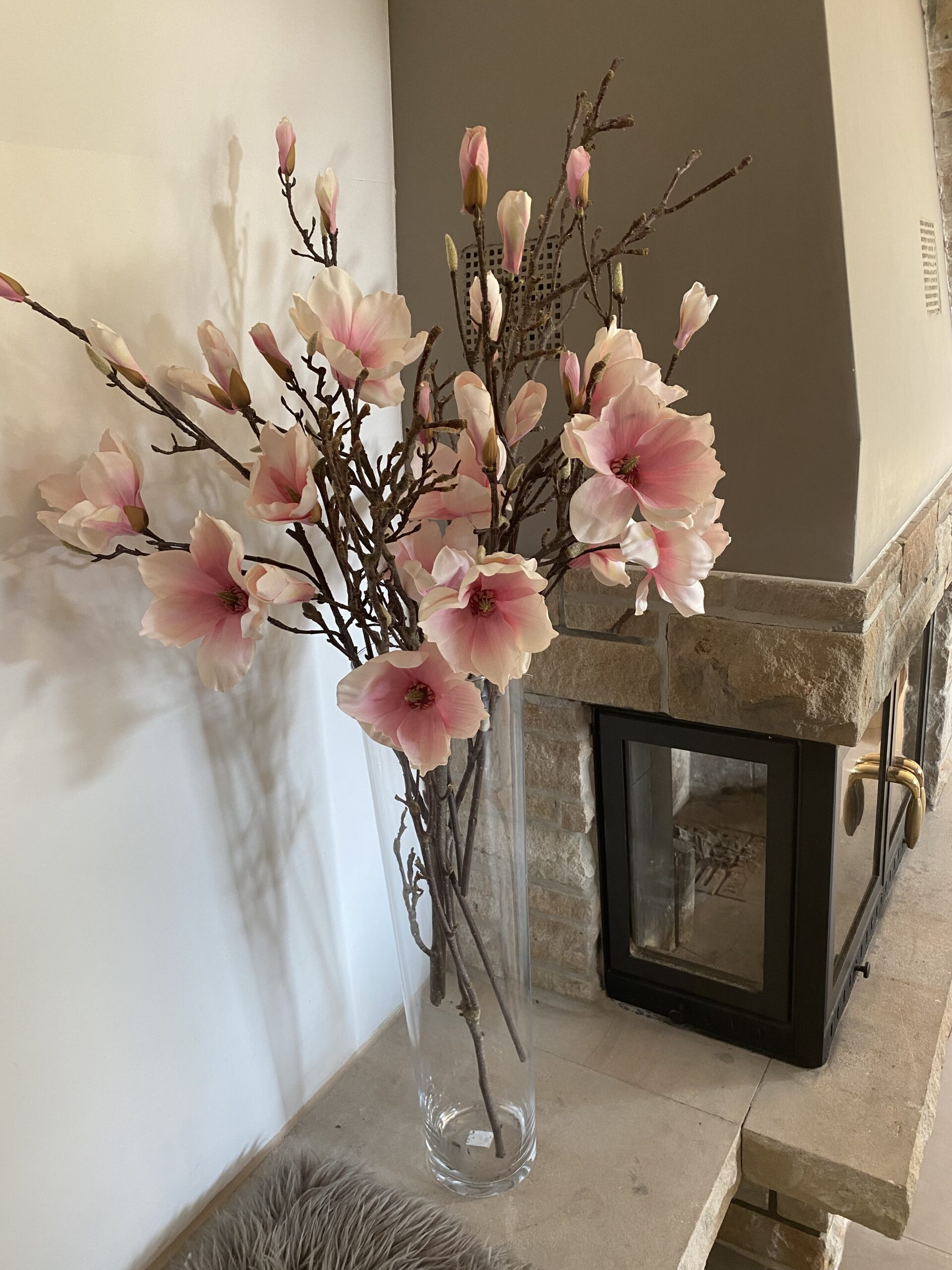 Magnolien Blumen Seidenblumen