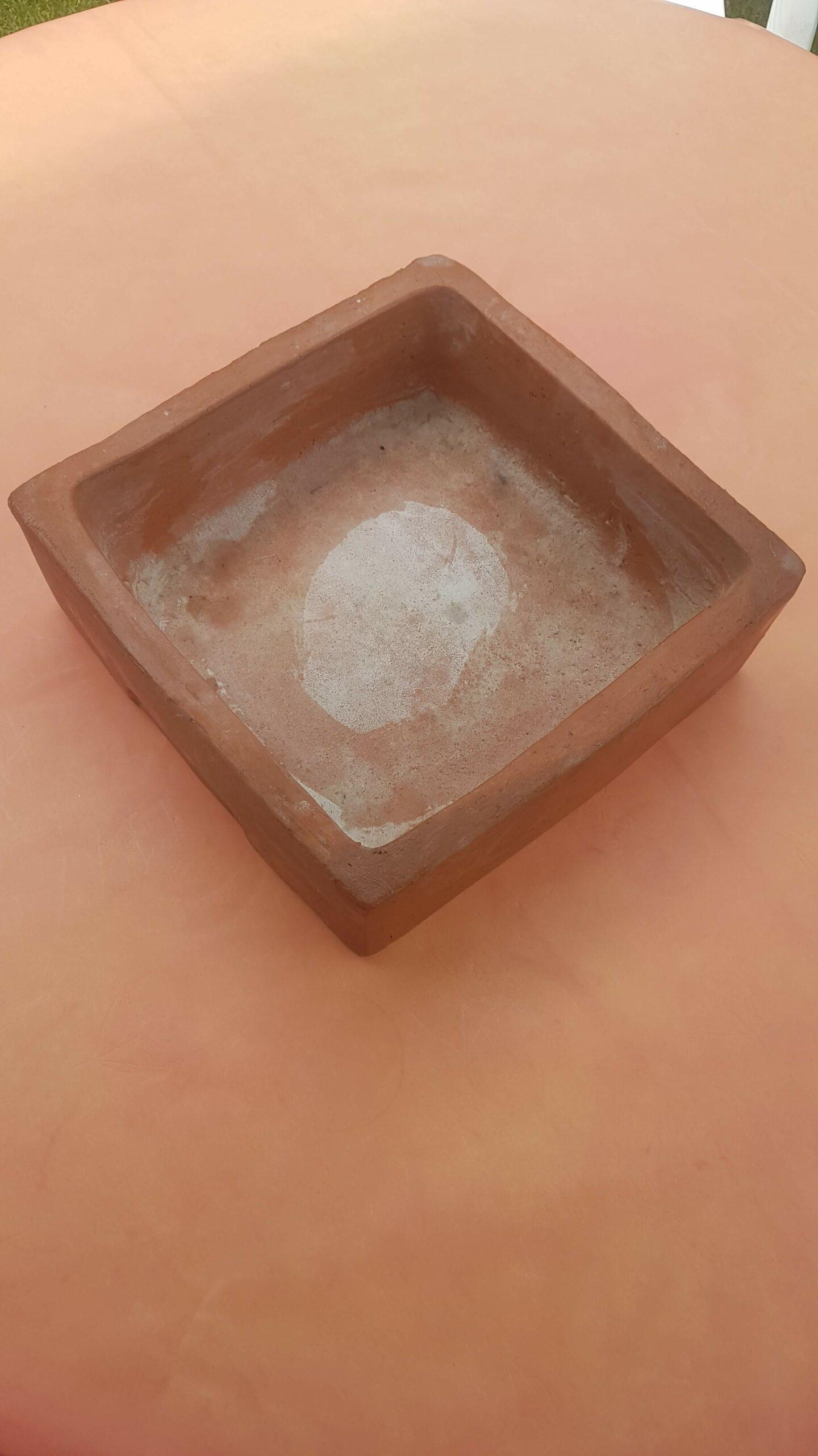 Keramik eckiger Blumentopf – ca. 27 x 28 cm – gebraucht