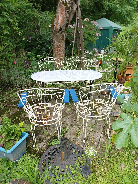 Gartenstühle, Gartenbank mit Polster, Gartenbank