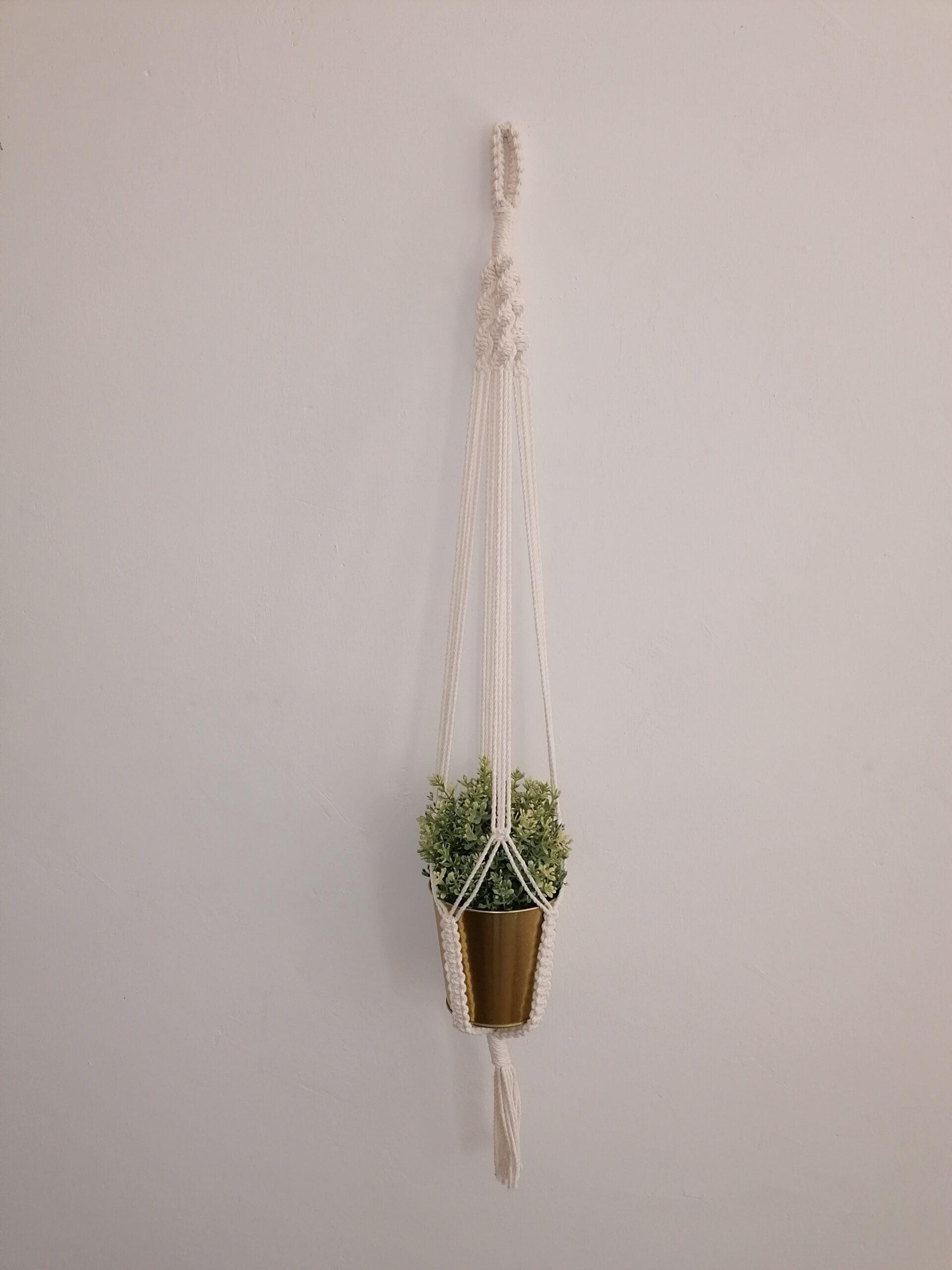 Makramee Pflanzenampel für 1 Topf, Blumenampel, macrame plant hanger